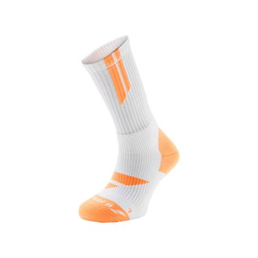 Babolat Team Big Logo Tennis Sock - White/Orange