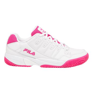 Fila Double Bounce Womens Tennis Shoe White/Pink 5PM00001 156