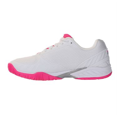 Fila Volley Zone Womens Pickleball Shoe - White/Pink