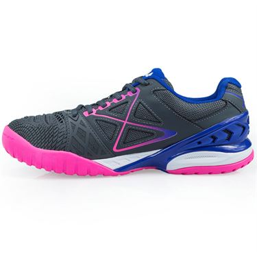 Fila Cage Delirium Womens Tennis Shoe - Gray/Pink/Royal