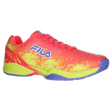 Fila Axilus 2 Energized Womens Tennis Shoe - Diva Pink/Safety Yellow/Wedgewood