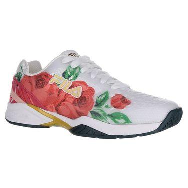 Fila Axilus 2 Energized Womens Tennis Shoe - White/Desert Flower/Ponderosa Pine