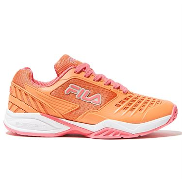 Fila Axilus 2 Energized Womens Tennis Shoe Melon Orange/White/Coral 5TM00602 668