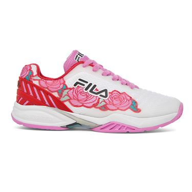 Fila Axilus 2 Energized Womens Tennis Shoe White/Rose Print 5TM00604 127