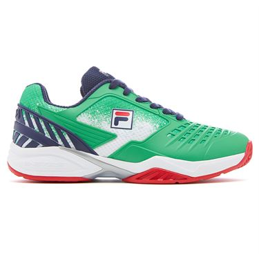 Fila Axilus Energized 2.0 Womens Tennis Shoe Green/Navy/Red 5TM00631 325