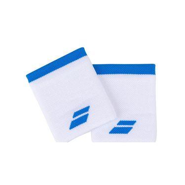 Babolat Logo Jumbo Wristband - White/Blue Aster