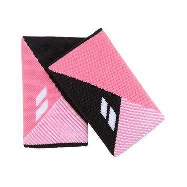 Babolat Reversible Jumbo Wristband - Black/Geranium Pink