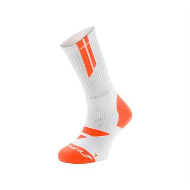 Babolat Big Team Logo Tennis Sock - White Orange