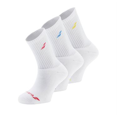 Babolat Tennis Crew Sock (3 Pack) - White