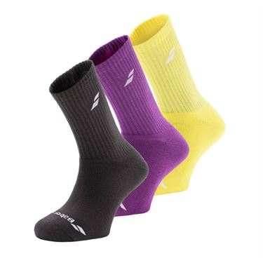 Babolat Tennis Crew Sock (3 Pack) - Aero Yellow