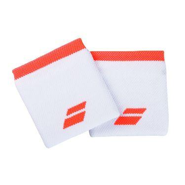 Babolat Logo Wristband - White/Fluo Strike