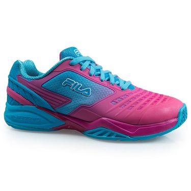 Fila Axilus Energized Womens Tennis Shoe - Raspberry Rose/Blue Atoll