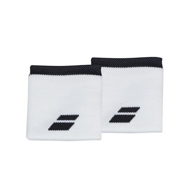 Babolat Logo Wristband - White/Rabbit
