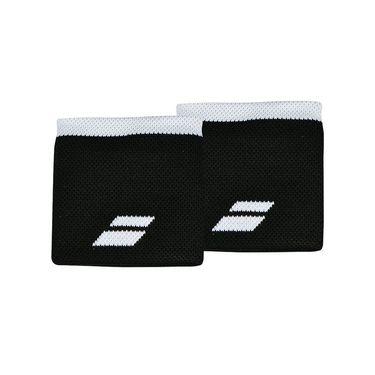 Babolat Logo Wristband - Black/White