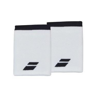 Babolat Logo Jumbo Wristband - White/Rabbit
