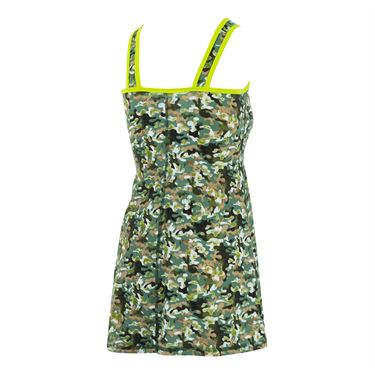 Bpassionit GI Girl Crossover Printed Dress - Camouflage