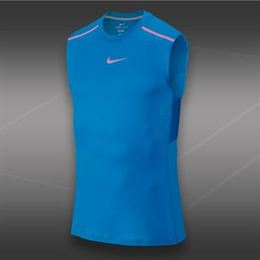 Nike Rafa Premier Sleeveless Crew-Light Photo Blue