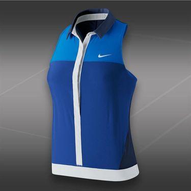 Nike Premier Sleeveless Polo-Deep Royal Blue
