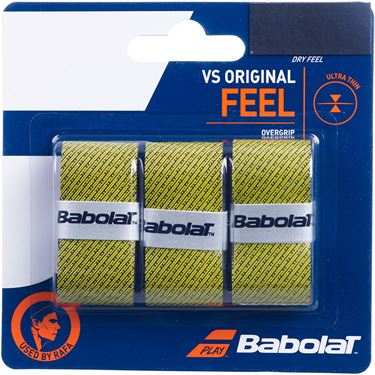 Babolat VS Original Overgrip 3 Pack - Black Yellow