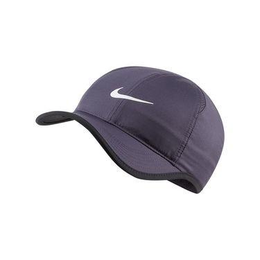Nike Court Aerobill Feather Light Hat - Gridiron/White