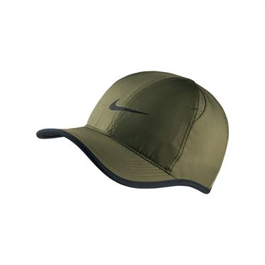 Nike Court Aerobill Featherlight Hat - Olive Canvas/Black