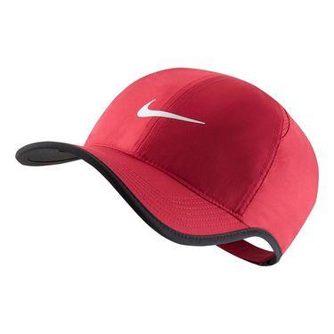 Nike Court Aerobill Featherlight Hat - Team Crimson/Black/White
