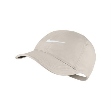 Nike Womens Court Aerobill Featherlight Hat - Orewood Brown/White