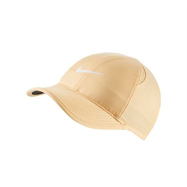 Nike Womens Court Aerobill Featherlight Hat - Celestial Gold/Black/White