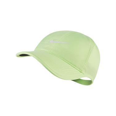 Nike Womens Court Aerobill Featherlight Hat - Ghost Green/White