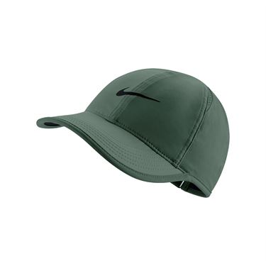 6bf35d6336954 Nike Womens Court Aerobill Feather Light Hat - Clay Green/Black
