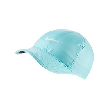 Nike Womens Court Aerobill Featherlight Hat - Light Aqua/Black/White