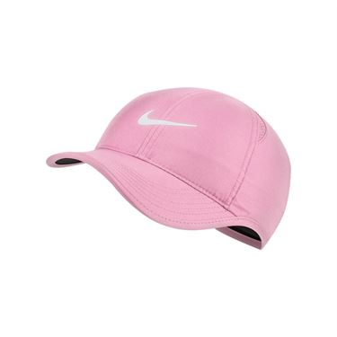 Nike Womens Feather Light Hat - Pink Rise/White