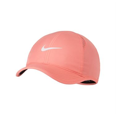 Nike Womens Court Aerobill Featherlight Hat - Sunblush/White