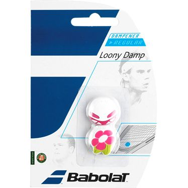 Babolat Loony Vibration Dampener - White/Pink Flower