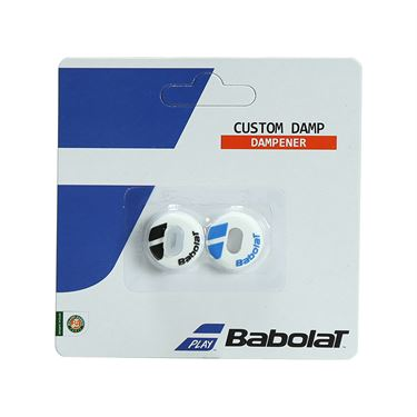 Babolat Custom Damp Vibration Dampener - White/Blue