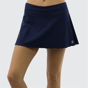 Sofibella Plus Size 13 Inch Skirt - Navy