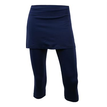 Sofibella Plus Size Abaza Skirt w/Leggings - Navy