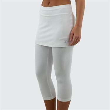 Sofibella Abaza Skirt w/Leggings - White