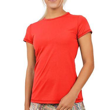 Sofibella UV Short Sleeve Top Womens Berry Red 7012 BER