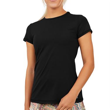 Sofibella UV Short Sleeve Top Womens Black 7012 BLK