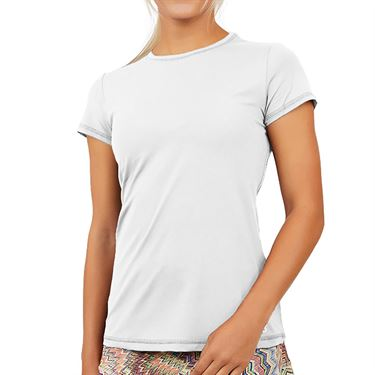 Sofibella UV Short Sleeve Top Womens White 7012 WHT