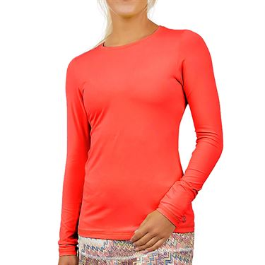 Sofibella UV Colors Long Sleeve Top Plus Size Womens Berry Red 7013 BERP