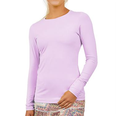 Sofibella UV Colors Long Sleeve Top Plus Size Womens Lavendar 7013 LAVP