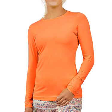 Sofibella UV Long Sleeve Top Plus Size Womens Nectarine 7013 NECP