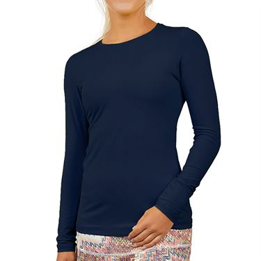 Sofibella UV Long Sleeve Top Plus Size Womens Navy 7013 NVYP