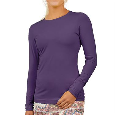 Sofibella UV Long Sleeve Top Womens Plum 7013 PLU