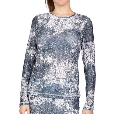 Sofibella Air Flow Long Sleeve Top Plus Size Womens Cloud Burst 7013W CLBP