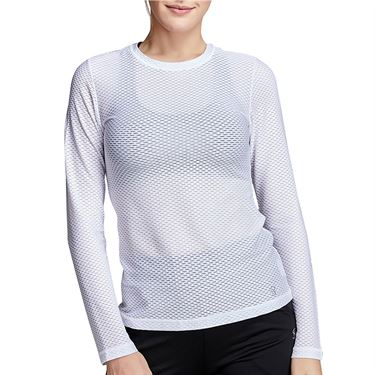 Sofibella Air Flow Long Sleeve Top Womens White 7013W WHT