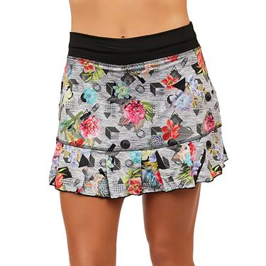 Sofibella UV 14 inch Skirt Womens Succulent Print 7016 SLT