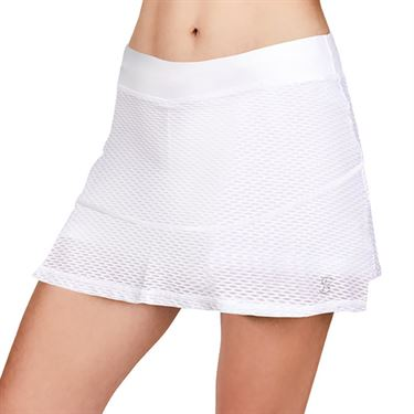 Sofibella Air Flow 13 inch Skirt Womens White 7017 WHT
